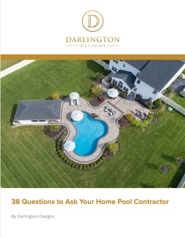 38 questions to ask your pool contractor ebook cover photo.
